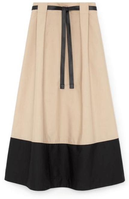 G. Label Violeta A-Line Colorblock Skirt goop, $495